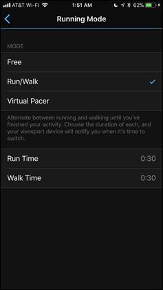 Vivosport-RunWalk-Mode