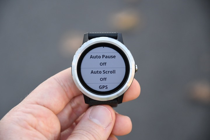 Garmin-Vivoactive3-Scroll-Pause