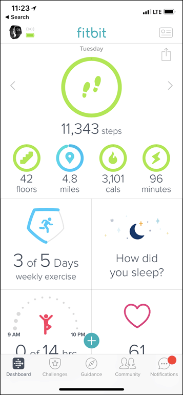 Fitbit-Versa-App-Steps-Overview