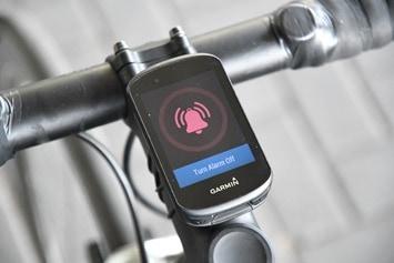 Garmin-Edge530-Bike-Alarm ausgelöst