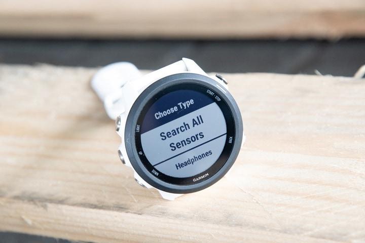 Garmin-FR245-Sensors