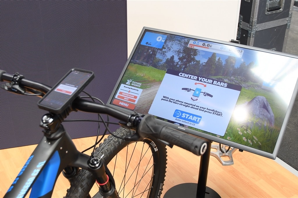 Zwift Demonstrates Mountain Biking & Steering at Eurobike