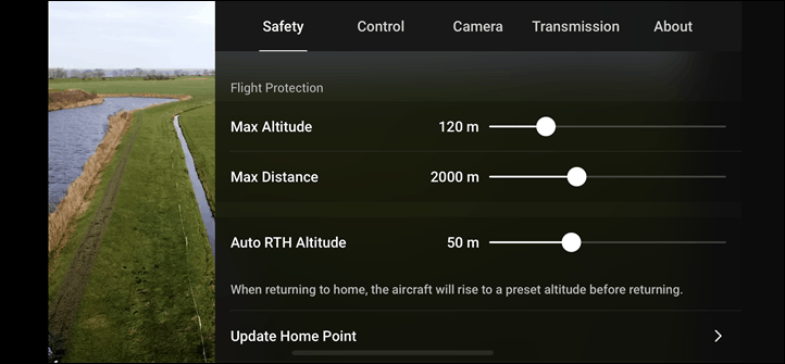 DJI-Mavic-Mini-Safety-Settings-Tab