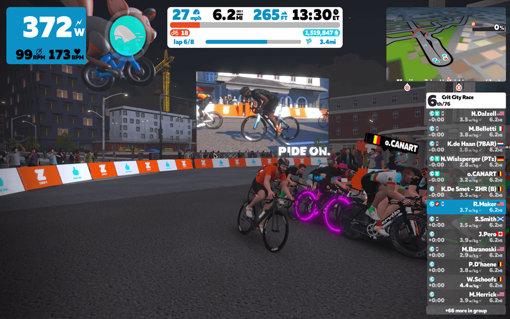 Zwift Begins First Day Of New Crit City Race Course My First Go Of It Dc Rainmaker