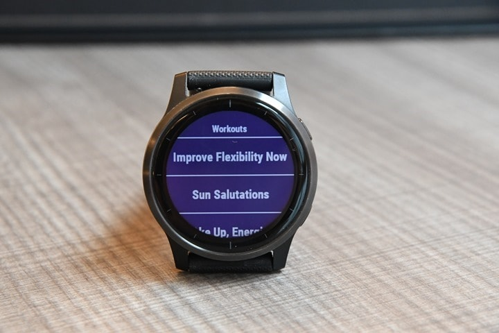 Garmin-Vivoactive4-Yoga-Workout-Selection