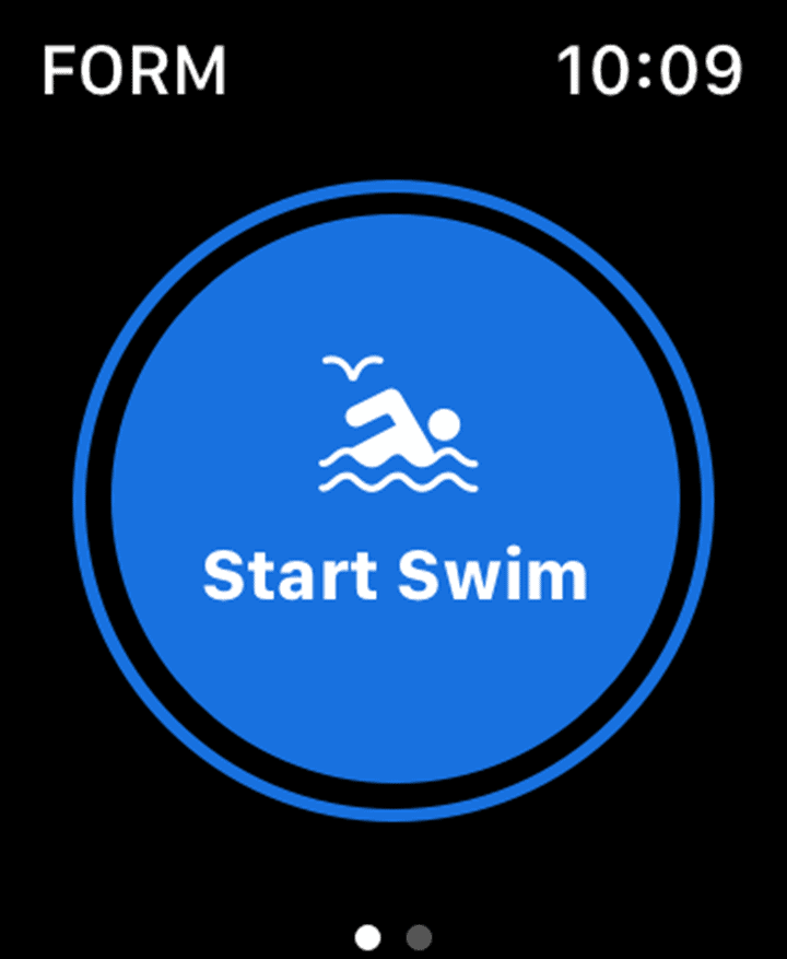 FORM Swim App for Apple Watch - Start