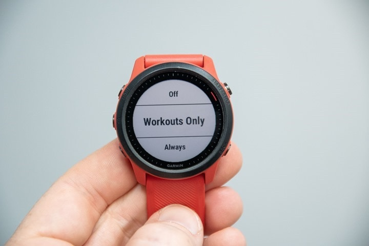 Garmin-Forerunner-Self-Evaluation-Workouts-Always-On